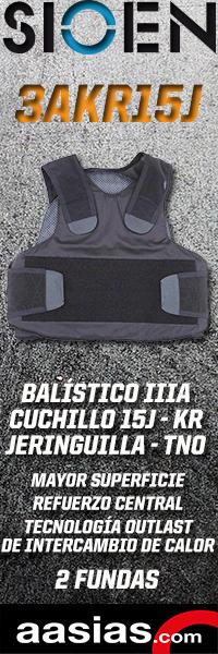 Chaleco blindado SIOEN 3AKR15J, protección frente a arma corta, cuchillo y jeringuilla.